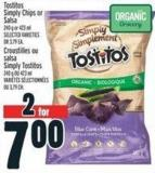 Tostitos Simply Chips Or Salsa 240 g Or 423 ml