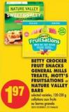 Betty Crocker Fruit Snacks General Mills Treats - Mott's Fruitsations or Nature Valley Bars - 120-230 G