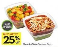 Made In-store Salsa or Dips