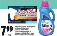 Downy Fabric Softener Or Unstopables And Bounce Wrinkle Guard