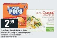 Stouffer's - Lean Cuisine Or Bistro Entrées 167-340 G Or Pillsbury Pops 4's