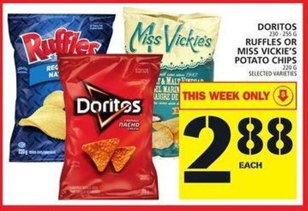 Doritos Or Ruffles Or Miss Vickie's Potato Chips