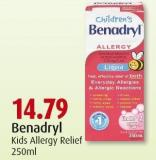 Benadryl  Kids Allergy Relief  250ml