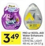 Mio or Kool-aid Water Enhancers 48 mL or Crystal Light 48 mL or 24-57 g