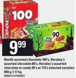 Nestlé Assorted Chocolate 100's - Hershey's Assorted Chocolate 80's - Hershey's Assorted Chocolate Or Candy 90's Or 115's - 900 G-1.17 Kg