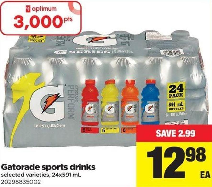 Gatorade Sports Drinks - 24x591 Ml