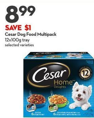 Cesar Dog Food Multipack 12x100g Tray