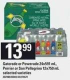 Gatorade Or Powerade - 24x591 Ml - Perrier Or San Pellegrino - 12x750 Ml