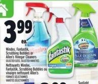 Windex - Fantastik - Scrubbing Bubbles Or Allen's Vinegar Cleaners
