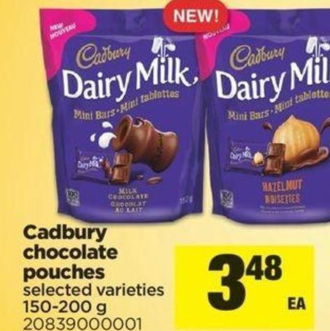 Cadbury Chocolate Pouches - 150-200 G