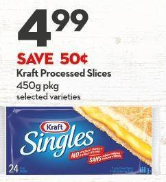 Kraft Processed Slices 450g Pkg
