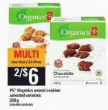 PC Organics Animal Cookies - 250 g