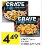 Crave Frozen Entrées Selected 200-300 g