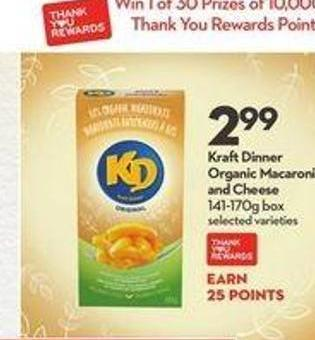Kraft Dinner Organic Macaroni and Cheese