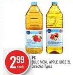 PC Blue Menu Apple Juice 2l