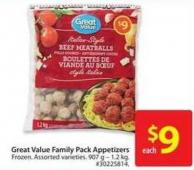 Great Value Italian Family Pack Appetizers