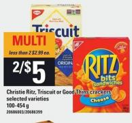 Christie Ritz - Triscuit Or Good Thins Crackers - 100-454 g