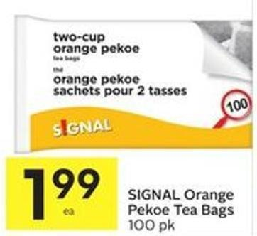 SIGNAL Orange Pekoe Tea Bags 100 Pk
