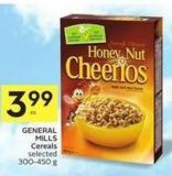 General Mills Cereals Selected 300-450 g -50 Air Mills Bouns