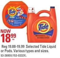 Selected Tide Liquid or Pods