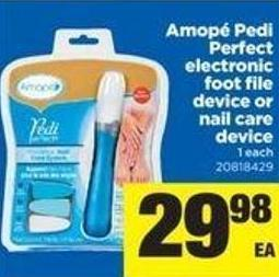 Amopé Pedi Perfect Electronic Foot File Device Or Nail Care Device - 1 Each