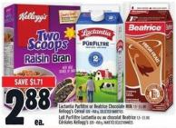 Lactantia Purfiltre Or Beatrice Chocolate Milk 1.5 - 2 L Or Kellogg's Cereal 320 - 450 G