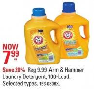 Arm & Hammer Laundry Detergent - 100-load