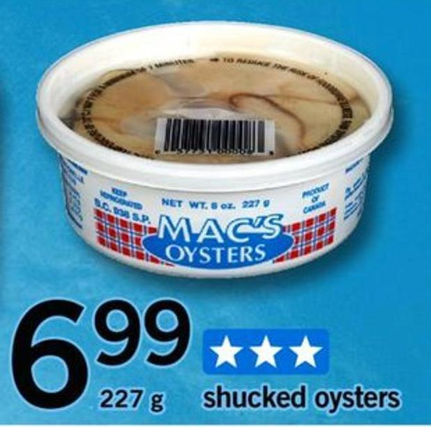 Shucked Oysters - 227 G