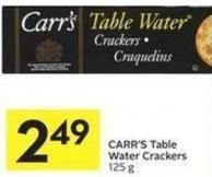 Carr's Table Water Crackers 125 g
