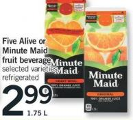 Five Alive Or Minute Maid Fruit Beverage - 1.75 L