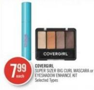 Covergirl Super Sizer Big Curl Mascara or Eyeshadow Enhance Kit