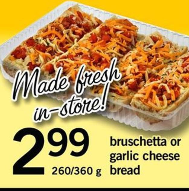 Bruschetta Or Garlic Cheese Bread