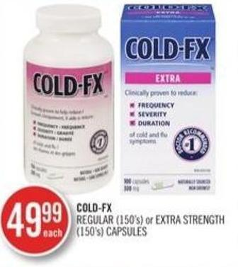 Cold-fx Regular (150's) or Extra Strength (150's) Capsules