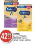 Enfamil A+ - A+2 (992g) or Gentlease (942g) Infant Formula Refill