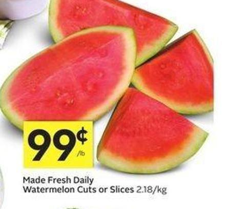Made Fresh Daily Watermelon Cuts or Slices