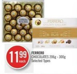 Ferrero Chocolates 206g - 300g