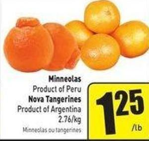 Minneolas Product of Peru Product of Argentina 2.76/kg