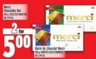 Merci Chocolate Bar 100 g