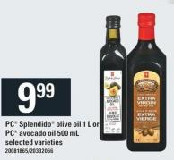 PC Splendido Olive Oil 1 L Or PC Avocado Oil 500 Ml