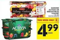 Danone Activia Or Irresistibles Yogurt