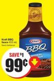 Kraft Bbq Sauce 455 mL Sauce Barbecue