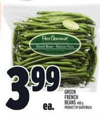 Green French Beans 400 G Product Of Guatemala