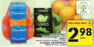 Clementines Or Limes Or Florida Grapefruit
