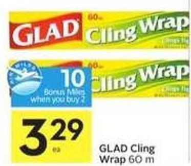 Glad Cling Wrap - Ea 10 Air Miles Bonus Miles