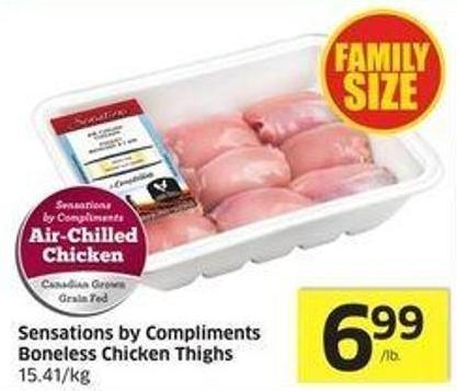Sensations By Compliments Boneless Chicken Thighs 15.41/kg