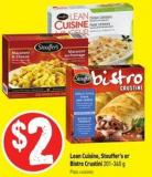 Lean Cuisine - Stouffer's or Bistro Crustini 201-340 g