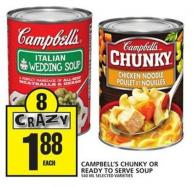 Campbell's Chunky Or Ready To Serve Soup
