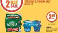 Danone Activia (8 X 100g) or Oikos Greek (4 X 100g) Yogurt