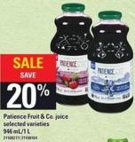 Patience Fruit & Co. Juice - 946 Ml/1 L