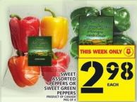 Sweet Assorted Peppers Or Sweet Green Peppers
